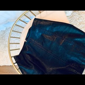 FREE PEOPLE BLACK LEATHER SKIRT